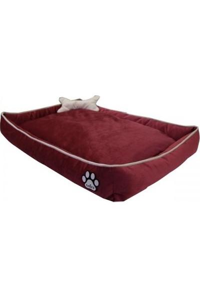 ANS Miu Tay Tüyü Köpek Yatağı Kemik Yastıklı 10x40x60 cm Mercan Small