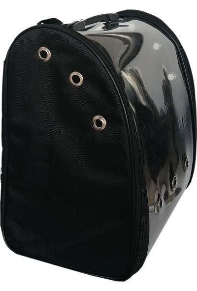 ANS Flipper Kedi Köpek Taşıma Sırt Çantası 23x37x40 cm Siyah