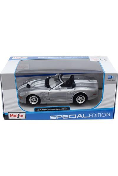 Maisto 1999 Shelby Series One 1:24 Model Araba Gri