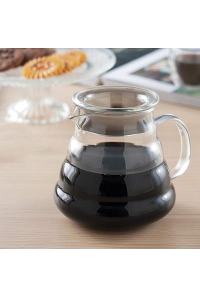 Cam Kahve Servis Sürahisi 4 Kupa - Glass Coffee Server 4 Cups