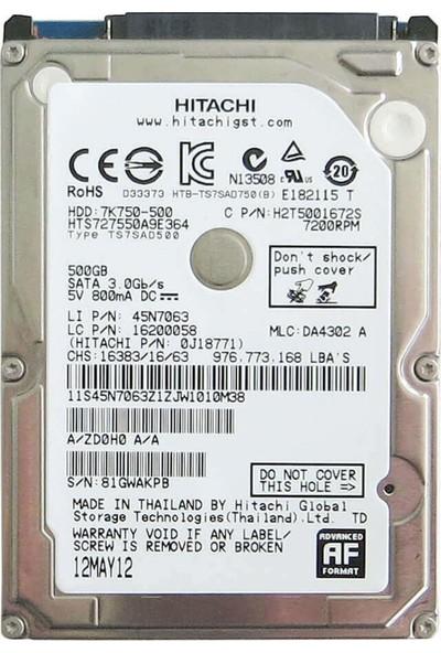 "Hitachi 500 GB 2.5"" 5400RPM Hard Disk (HGSTZ5K500)"