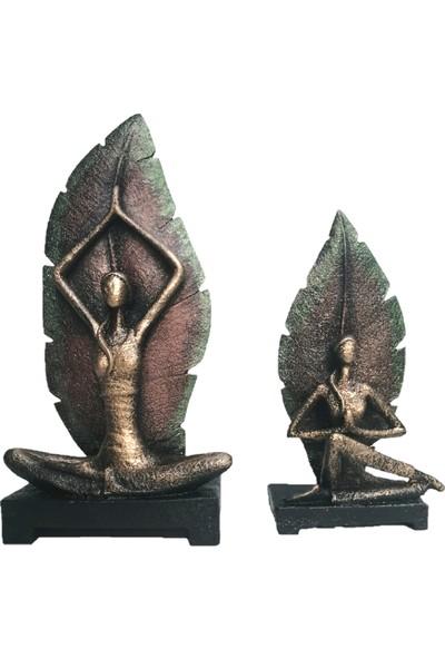 Gift Garden Yoga Yapan Kadınlar Bronz