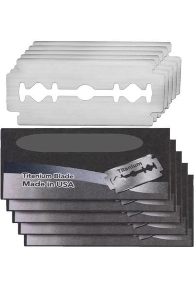 Qualis Shave Q8 Tıraş Makinesi Fırça 5 Adet Yaprak Jilet Set