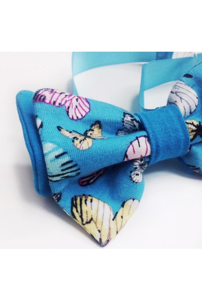 Kediler Için Papyon Mavi Kelebekli By Kemique