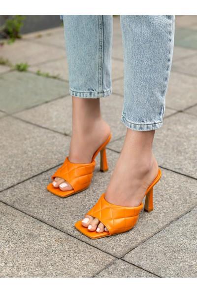 My Poppi Shoes Turuncu Kadın Terlik Jamaika