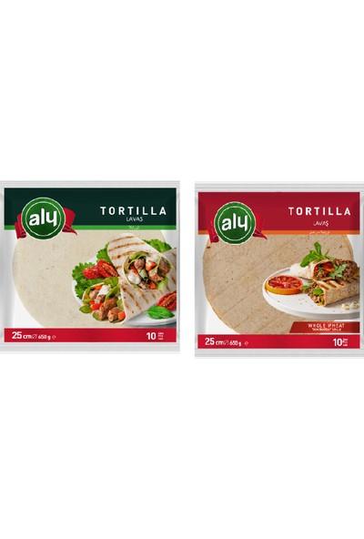 Aly Tortilla 25 cm 10 Pcs 650 gr + Aly Tortilla Tam Buğdaylı 25 cm 10 Pcs 650 gr