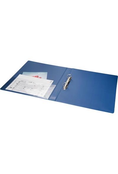 2K A4 Pvc 2 Halkalı Öğrenci ve Ofis Tipi Evrak Sunum Klasörü Iç Cepli 200 Yaprak 27 x 32 cm