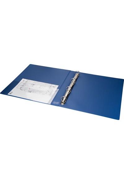 2K A4 Pvc 4 Halkalı Öğrenci ve Ofis Tipi Evrak Sunum Klasörü Iç Cepli 200 Yaprak 27 x 32 cm