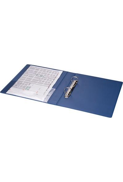 2K A5 Pvc 2 Halkalı Öğrenci ve Ofis Tipi Evrak Sunum Klasörü Iç Cepli 200 Yaprak 19,5 x 23 cm