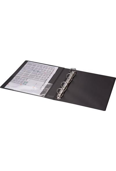 2K A5 Pvc 4 Halkalı Öğrenci ve Ofis Tipi Evrak Sunum Klasörü Iç Cepli 200 Yaprak 19,5 x 23 cm