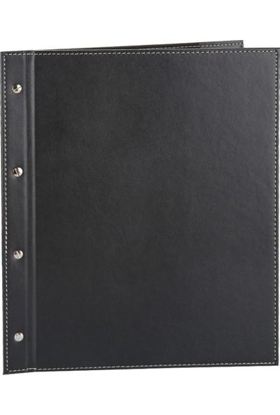 2K Suni Deri Vidalı Menü Kabı 26 x 32 cm