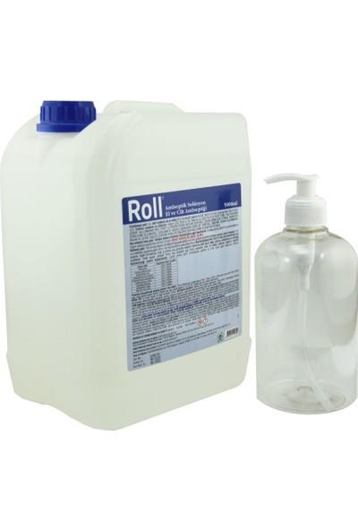 Roll El ve Cilt Dezenfektanı 5 lt + 1 Adet Pompalı 250 ml Plastik Şişe