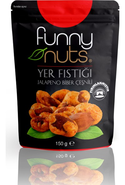 Funny Nuts Jalapeno Çeşnili Yer Fıstığı 5'li - 150 gr