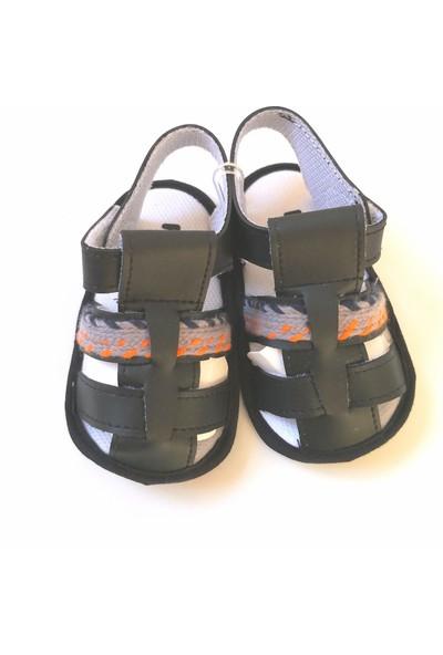 Funny Baby Bebek Sandalet İlk Adım Ayakkabısı Siyah