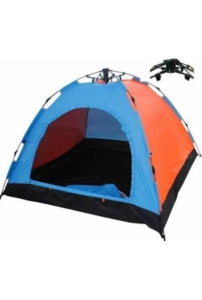 Onetick 4 Kişilik Renkli Dayanıklı Tam Otomatik Kamp Çadırı 200 x 200 x 140 cm