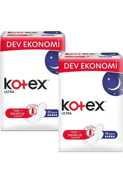 Kotex Ultra Gece Hijyenik Ped 24 Adet- 2 Paket