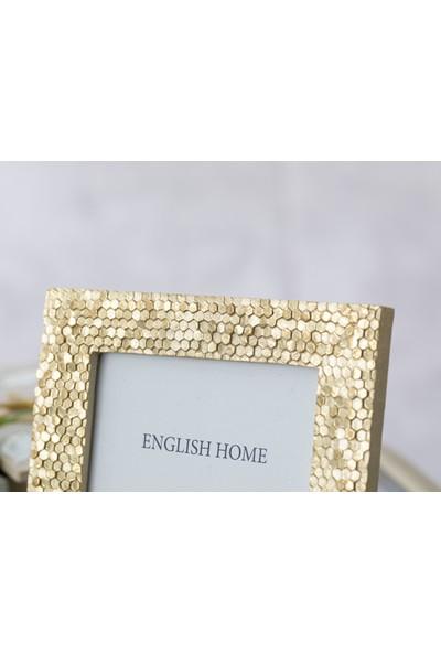 English Home Pentagonal Çerçeve 13,5x1,5x13,5 Cm Gold