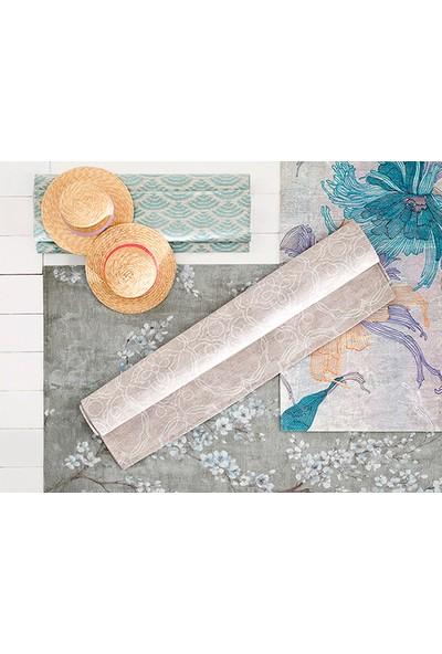 English Home Big Damask Pamuk Polyester Halı 120x180 Cm Açık Bej