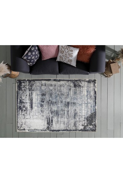 English Home Aztech Şönil Halı 300x200 Cm Mavi - Lacivert