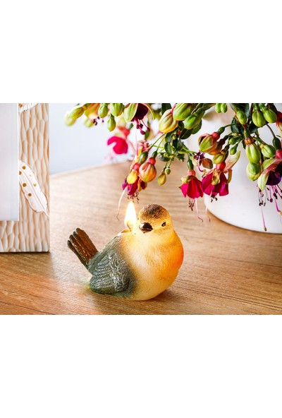 English Home Cuttie Bird Parafin Mum 10x5,5x7 Cm Yeşil