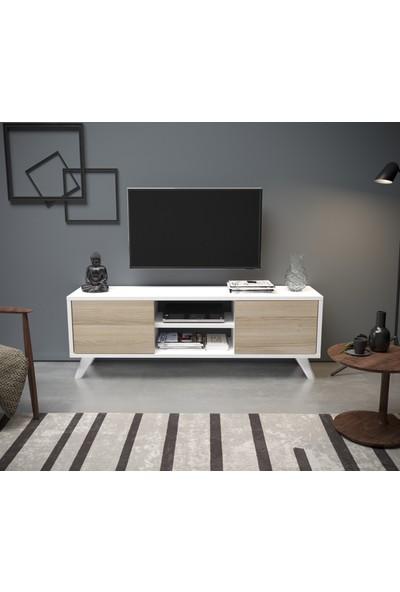 Irmak Tv Sehpası Cordoba Beyaz
