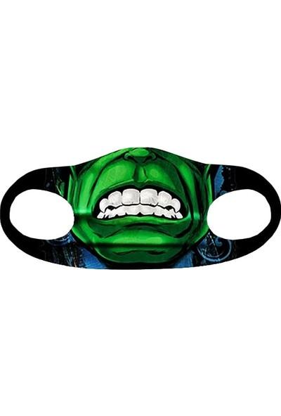 Alışveriş Burada Hulk Baskılı - Yetişkinler Için Yıkanabilir Koruyucu Nano Maske 5'li Paket