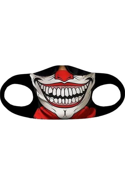 Alışveriş Burada Joker Baskılı - Yetişkinler Için Yıkanabilir Koruyucu Nano Maske 5'li Paket