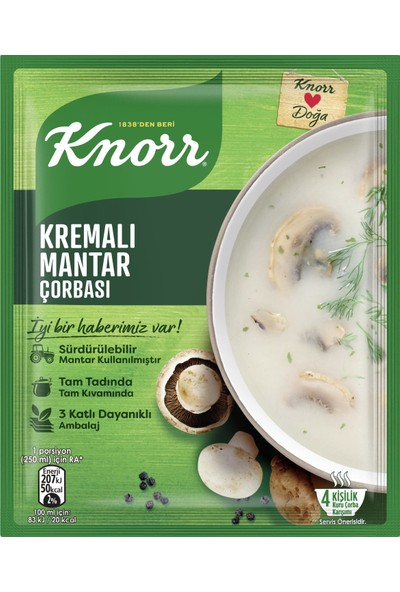 Knorr Kremalı Mantar Çorbası 63 gr 12'li Paket
