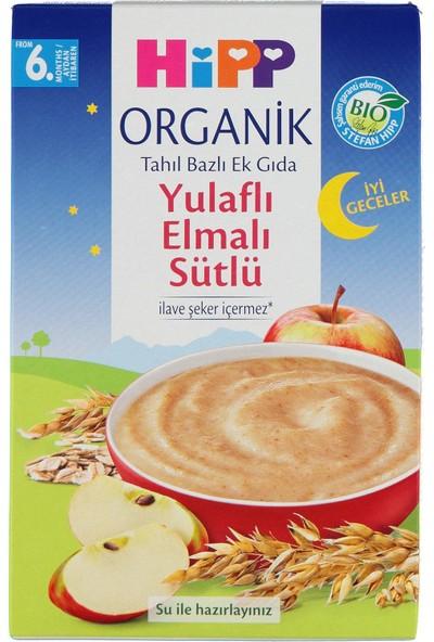 Hipp Organik İyi Geceler Sütlü Yulaflı Elmalı Tahıl Bazlı Kaşık Maması 250 gr