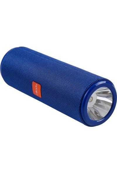 Mikado MD-BT54 Mavi BT/USB/AUX/TF 3.7V 1200 mAh Işıklı Taşınabilir Speaker