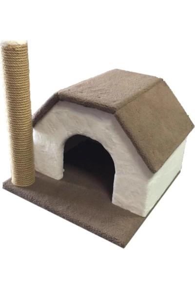 Tiger Pets Cat Bursa Kedi Evi Peluş Yastıklı Yatağı Tırmalama Oyun Evi