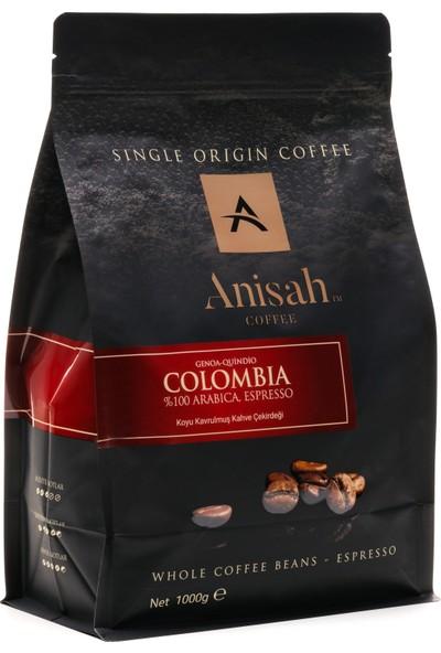 Anisah Genoa Espresso Çekirdek Kahve Koyu Kavrulmuş 1000 gr
