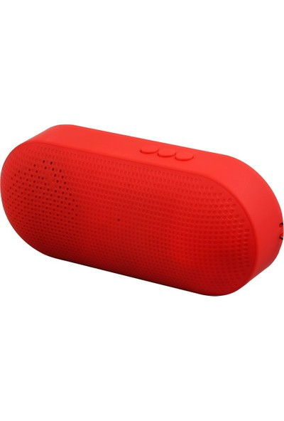 Hytech HY-S10 DC 5V Kırmızı USB + TF Kart + Bluetooth Speaker
