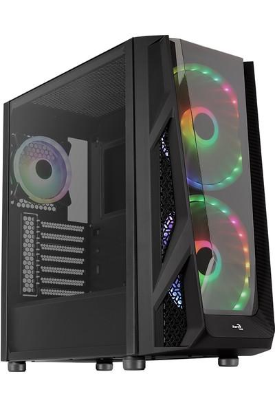 Aerocool NightHawk Duo 750W 80+ Bronze ARGB 2 x 2 Bilgisayar Kasa (AE-NGHTHWKD-750BR)