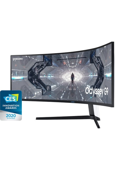 "Samsung Odyssey G9 LC49G95TSSMXUF 49"" 240Hz 1ms (HDMI+Display) G-Sync 2K QLED Curved Monitör"