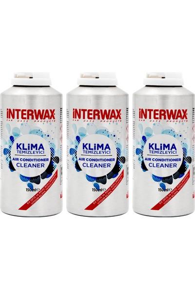 Interwax Limon Kokulu Klima Temizleyici Klima Bombası 150 Ml (3Adet)