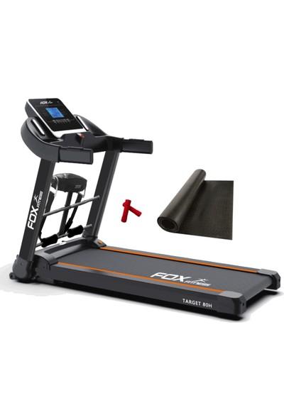 Fox Fitness Target 80H 2.60 Hp Motorlu Masajlı Koşu Bandı + 2 x 0,5 kg Neopren Dambıl + Koşu Bandı Minderi Hediyeli
