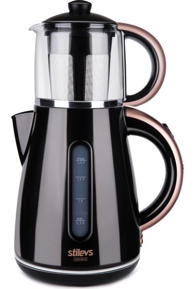 Stilevs Çays CM-16 Çay Makinesi - Siyah & Bakır