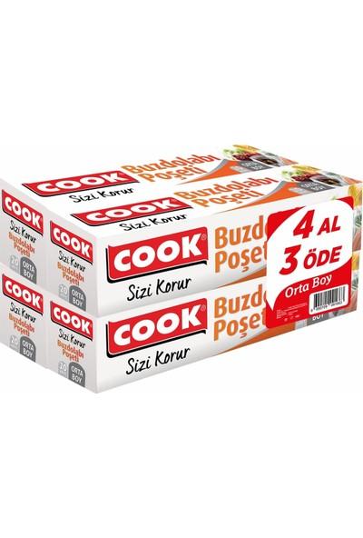 Cook Buzdolabı Poşeti Orta Boy 24X38Cm