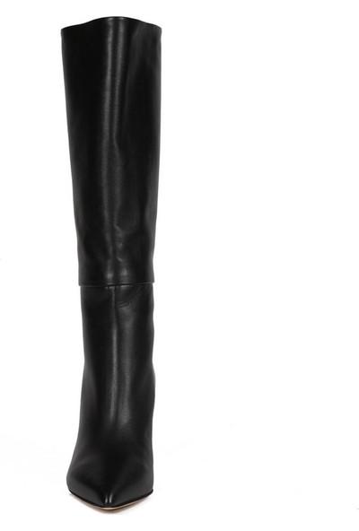 Sofia Baldi Helin Siyah Deri Kadın Topuklu Çizme