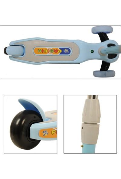 Pasifik Müzikli ve LED Işıklı Üç Teker ve Işıklı Çocuk Scooter