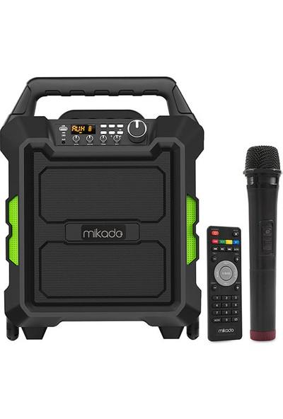 Mikado MD-101KP RMS:80W Kablosuz UHF Mikrofonlu Bluetooth ve USB Destekli Taşınabilir Toplantı Anfisi