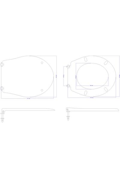 Öge Classform Akdeniz Klozet Kapağı-Alttan Sıkmalı -Plastik Menteşeli
