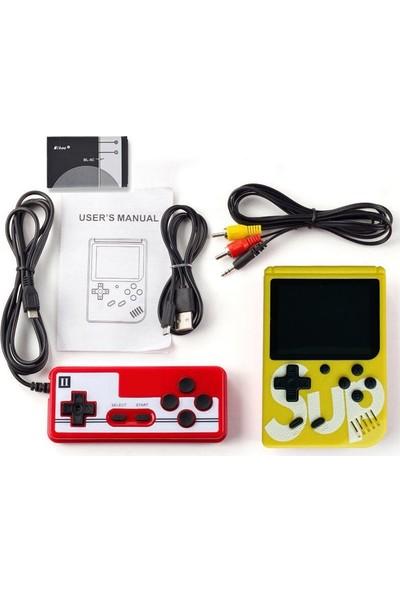 "Sup Taşınabilir Video Oyun Konsolu 3"" 400 Oyunlu Mini Atari Gameboy 2 Oyunculu"