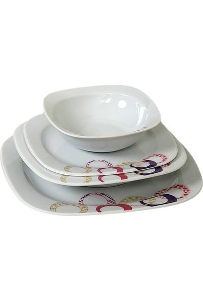 Güral Porselen Gala 01 Model 6 Kişilik 24 Parça Yemek Takımı