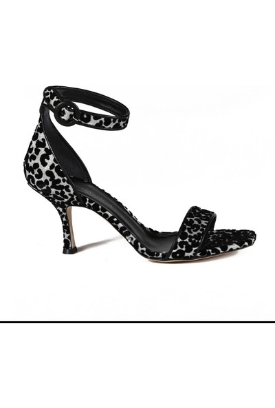 Sofia Baldi Amite Gümüş Kumaş Toka Kadın Topuklu Sandalet