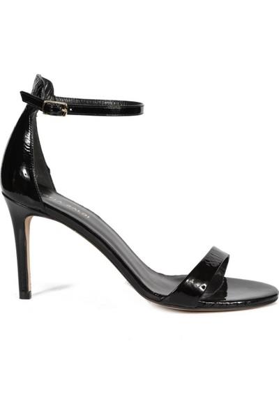 Sofia Baldi Hera Siyah Rugan Toka Kadın Topuklu Sandalet