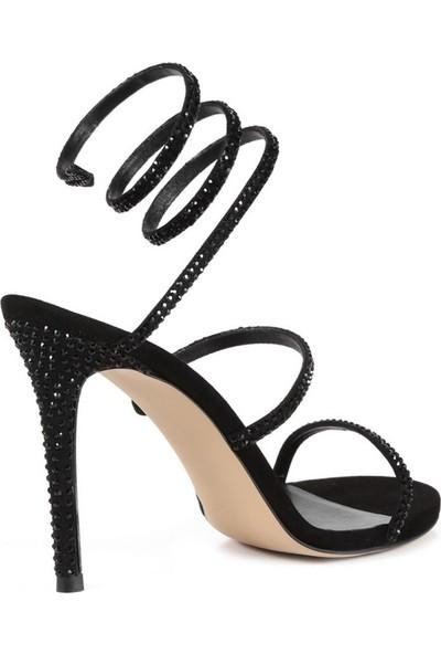Sofia Baldi Martina Siyah Kadın Topuklu Sandalet