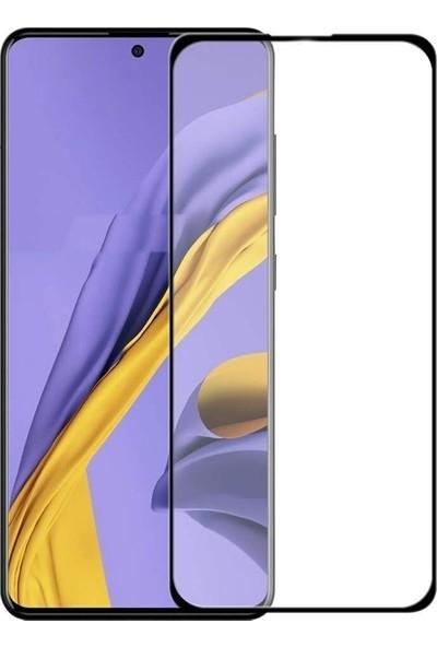 Case Street Samsung Galaxy Note 10 Lite Full Kapatan Renkli Cam Tam Koruma Siyah
