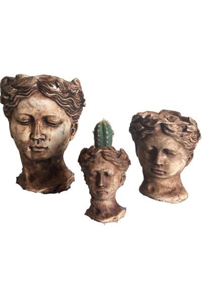 Antik Helen Saksı 3'lü Set